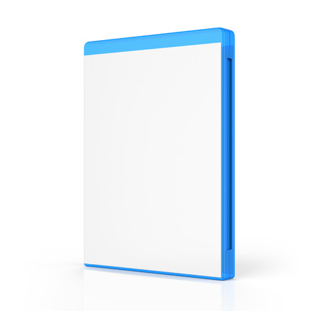 blu ray: Blank Bluray Case Isolated