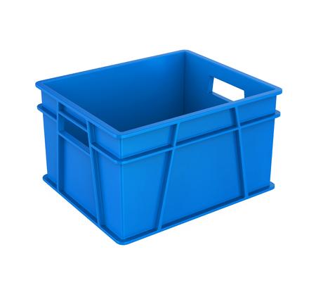 Plastic krat geïsoleerd Stockfoto