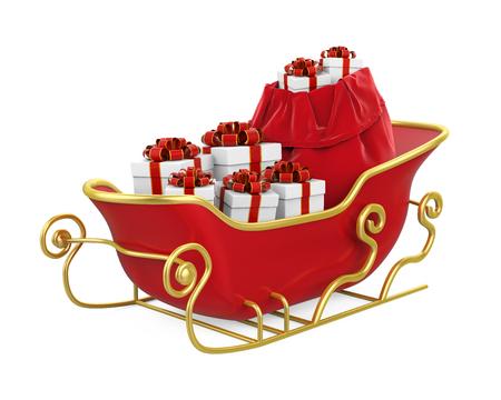 Kerstslee geïsoleerd Stockfoto - 89697630