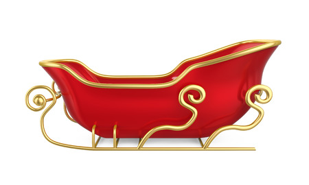 Christmas Sleigh Isolated