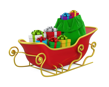Kerstslee geïsoleerd Stockfoto - 89696730