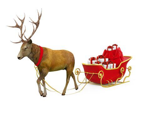 Christmas Sleigh Isolated