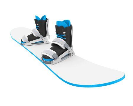 Snowboard met geïsoleerde bindingen