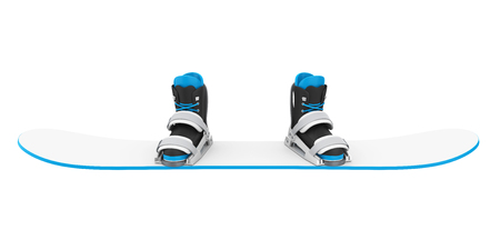 Snowboard with Bindings Isolated