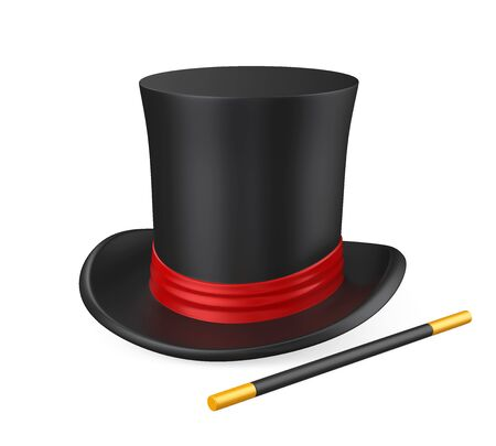 Magician Hat Isolated Stock Photo