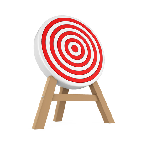 Darts Target Isolated Stock Photo