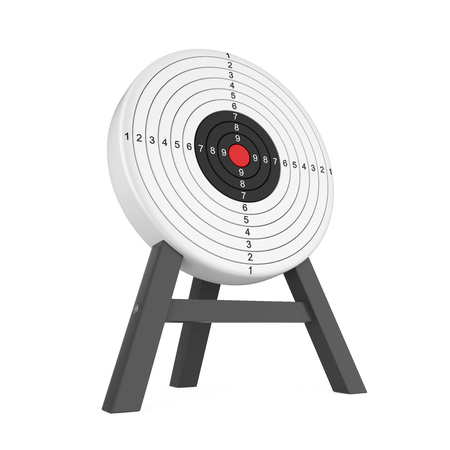 Shooting Target Isolated Stock Photo