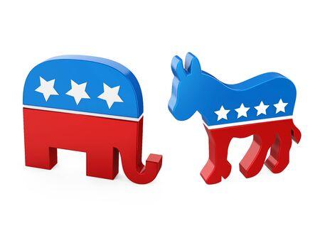 Asino democratico ed elefante repubblicano