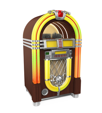Vintage Jukebox Radio aislada