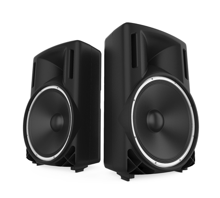 Large Audio Speakers Isolated 版權商用圖片 - 90854832