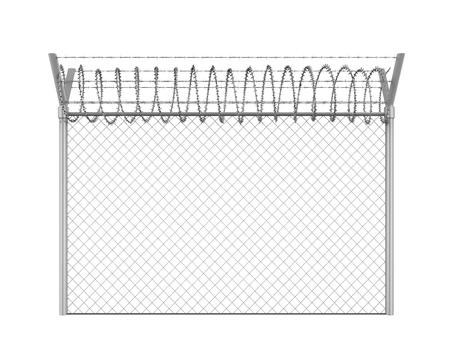 Prikkeldraad hek geïsoleerd