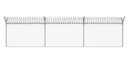 Barbed Wire Fence Isolated