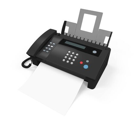 Fax Machine with Paper Isolated