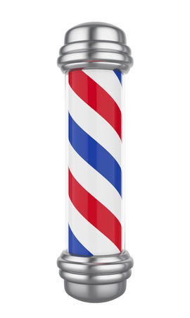 Classic Barber Shop Pole Isolated