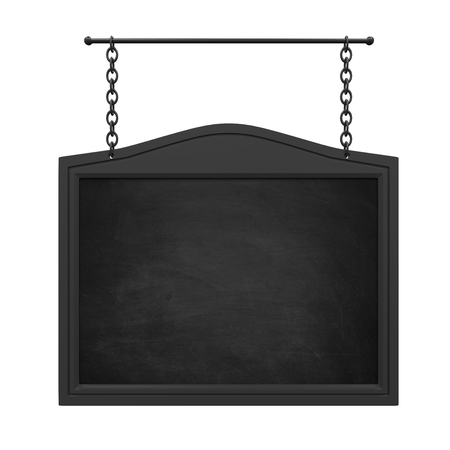 Hanging Chalkboard Isolated Stock Photo
