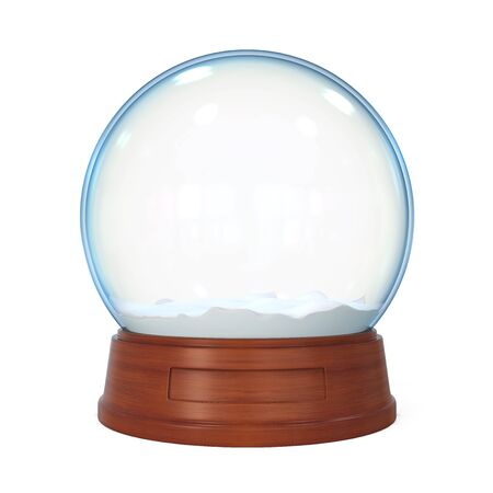 Snow Globe Isolated Stock Photo