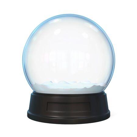 Snow Globe Isolated Stock Photo