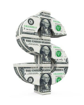 United States Dollar Sign Isolated Stock Photo