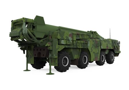 SCUD Missile Launcher Isolated Stock Photo