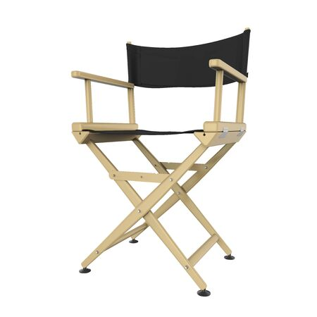 Movie Director Chair Isolated