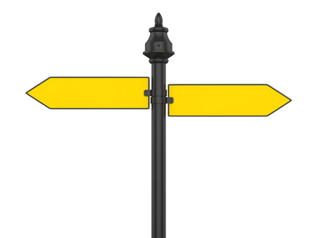 Blank Street Sign Isolated