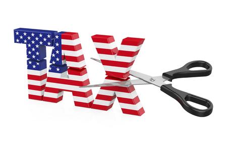 United States Tax Cuts Concept Foto de archivo