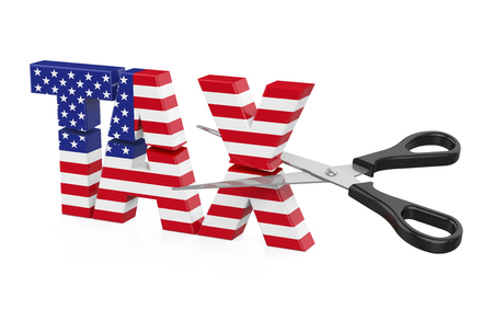 United States Tax Cuts Concept Stok Fotoğraf