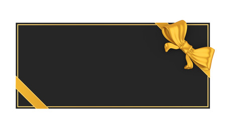 Blank Gift Voucher Isolated