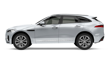 Silver SUV Car Isolated Banque d'images