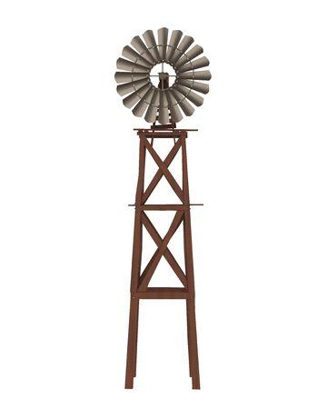 Vintage Windmill Isolated