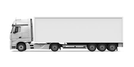 Camion container isolato Archivio Fotografico - 92609263