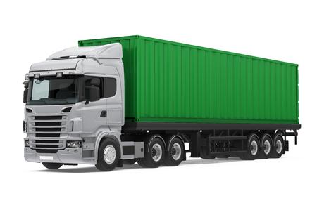 Camion container isolato Archivio Fotografico - 92671162