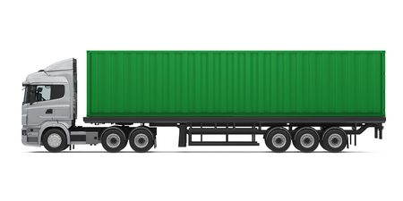 Camion container isolato