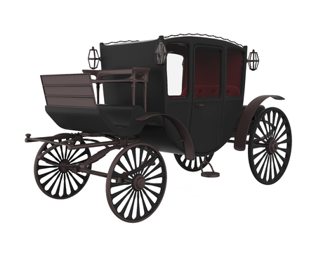 Vintage Carriage Isolated