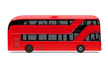 New London Double Decker Bus Isolated