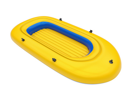Inflatable Boat Isolated