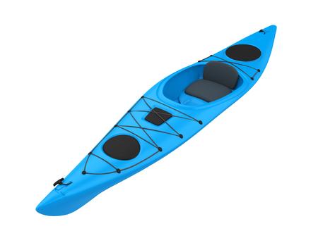 Blue Kayak Isolated Imagens