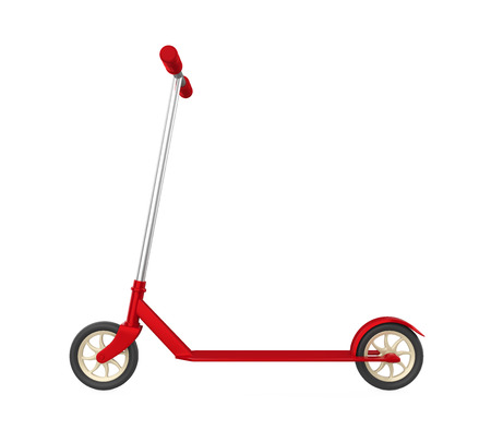 Kids Scooter Isolated Stock Photo