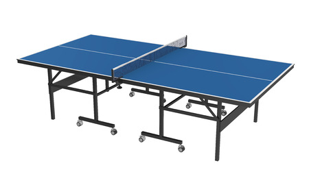 Table Tennis Table Isolated Stock Photo