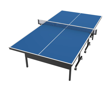 Table Tennis Table Isolated Stockfoto