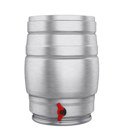 Metal Beer Keg Isolated Foto de archivo