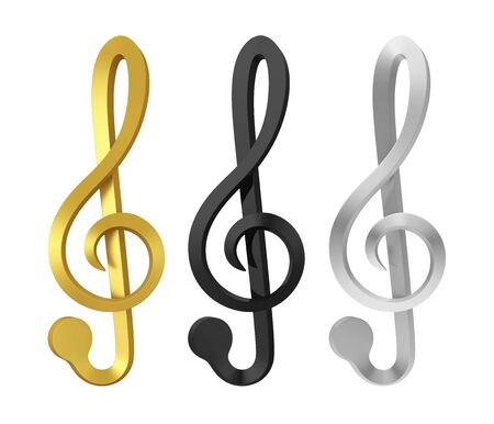 Music Notes Isolated Stock Photo