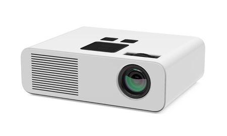 Multimedia-projector geïsoleerd Stockfoto