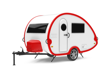 Camper Trailer Isolated Stock Photo