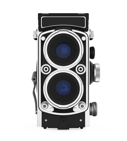 Twin-lens Reflex Camera Isolated Banco de Imagens