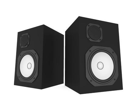 Audio Speakers Isolated Stock Photo