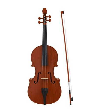 Aged Violin Isolated Stock Photo