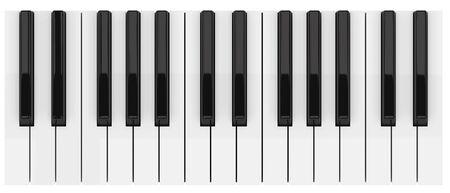黒と白のピアノキー
