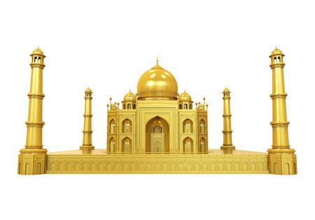 Golden Taj Mahal Isolated Stock Photo