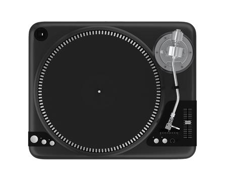 DJ Turntable Isolated Stock Photo